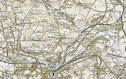 Old map of Baildon in 1903-1904