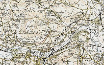 Old map of Baildon Moor in 1903-1904
