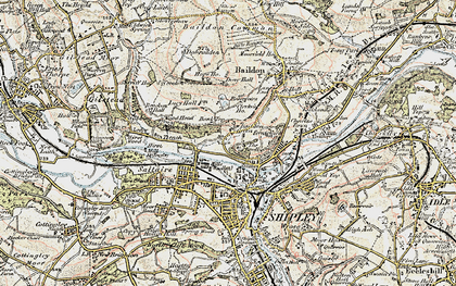 Old map of Baildon Green in 1903-1904
