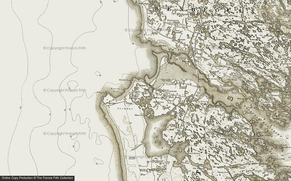 Old Map of Baile Gharbhaidh, 1911 in 1911
