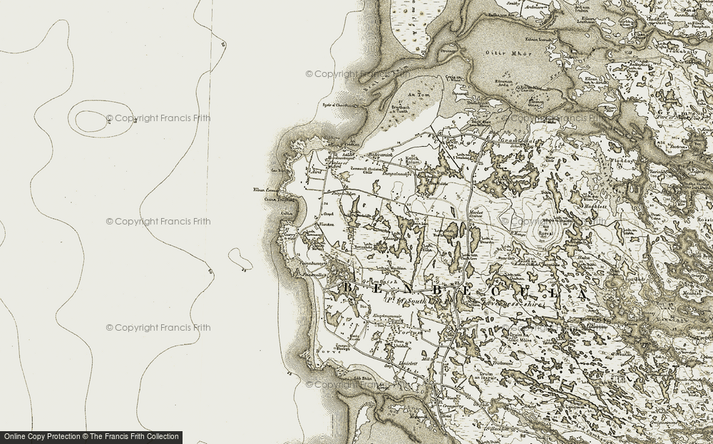 Old Map of Baile nan Cailleach, 1911 in 1911