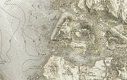Old map of Bailetonach in 1906-1908