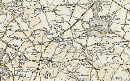 Old map of Ashen Wood Ho in 1897-1900