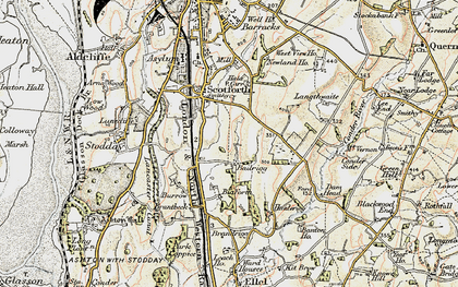 Old map of Bailrigg in 1903-1904