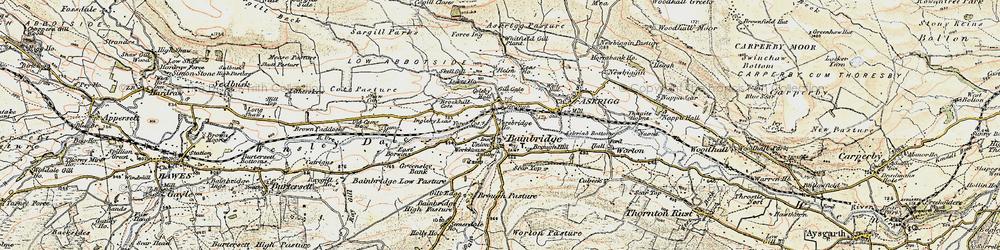 Old map of Bainbridge in 1903-1904