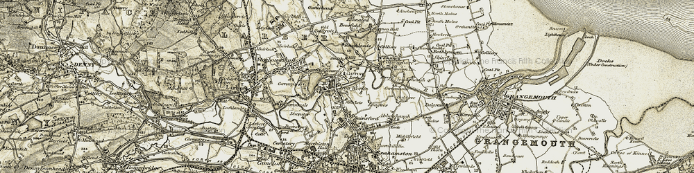 Old map of Bainsford in 1904-1907