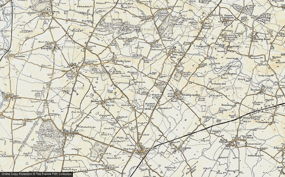 Old Map of Bainton, 1898-1899 in 1898-1899