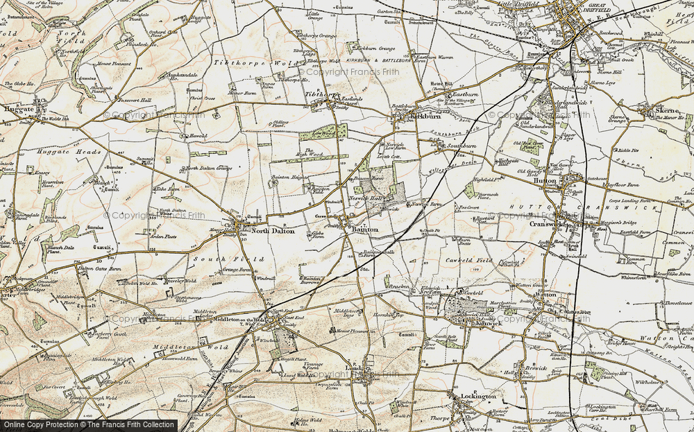 Old Map of Bainton, 1903 in 1903