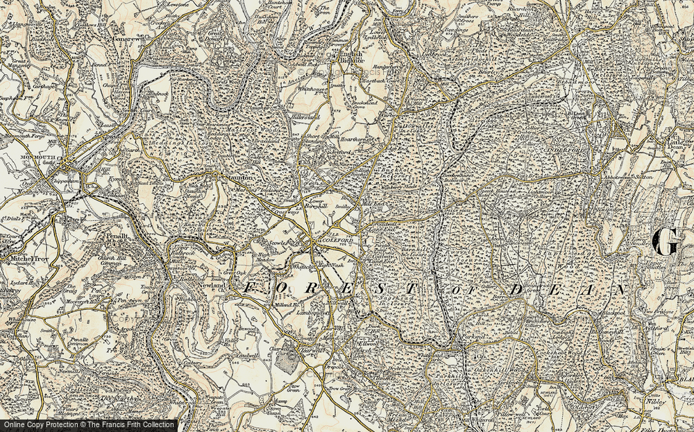 Old Map of Baker's Hill, 1899-1900 in 1899-1900