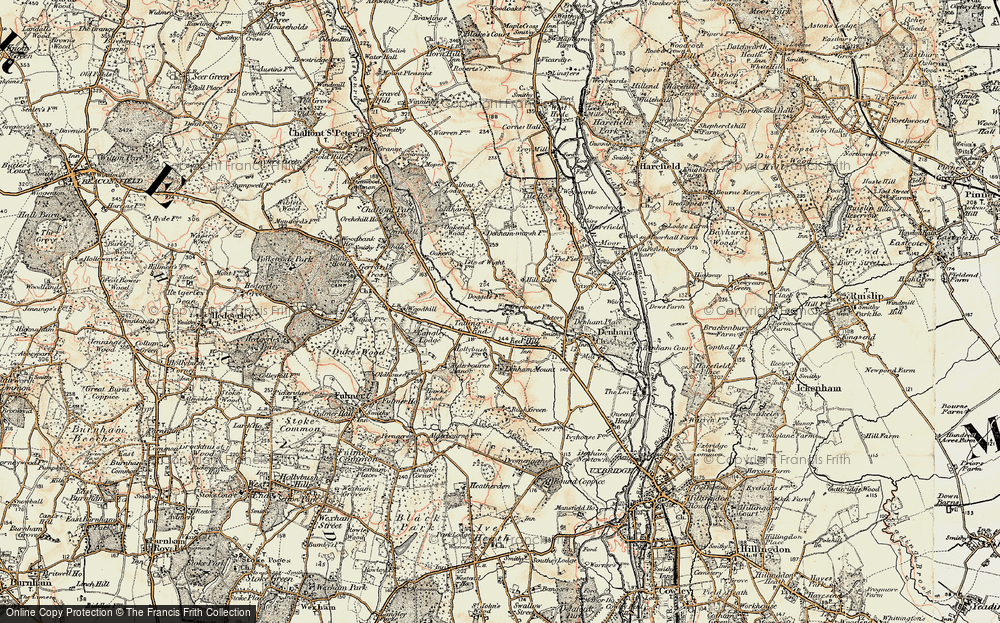 Old Map of Baker's Wood, 1897-1898 in 1897-1898