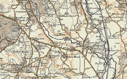 Old map of Baker's Wood in 1897-1898