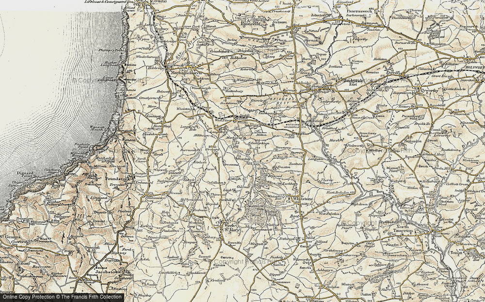 Old Map of Bakesdown, 1900 in 1900