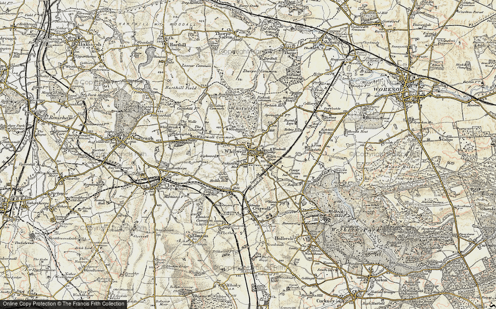 Old Map of Bakestone Moor, 1902-1903 in 1902-1903