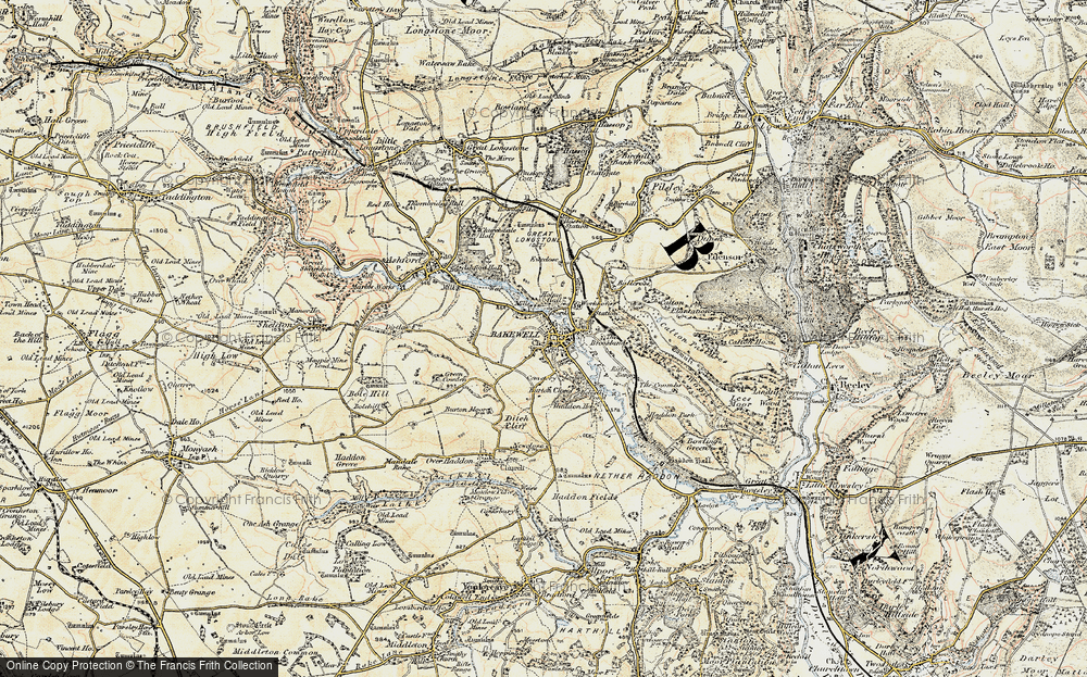 Old Map of Bakewell, 1902-1903 in 1902-1903