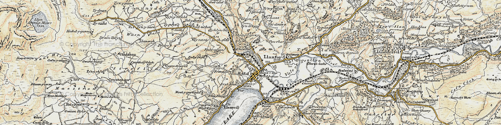 Old map of Bala in 1902-1903