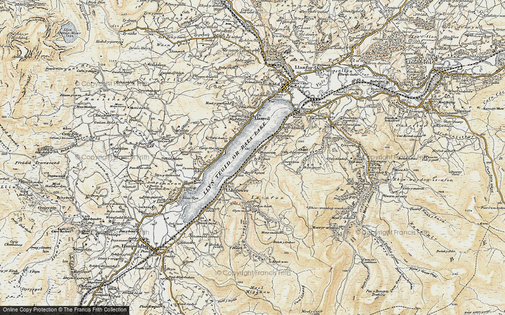 Old Map of Bala Lake Railway, 1902-1903 in 1902-1903