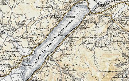 Old map of Bala Lake Railway in 1902-1903