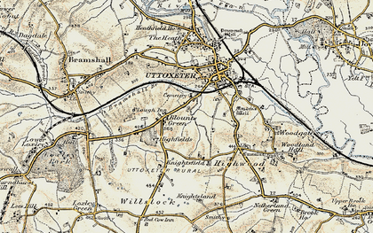 Old map of Balance Hill in 1902
