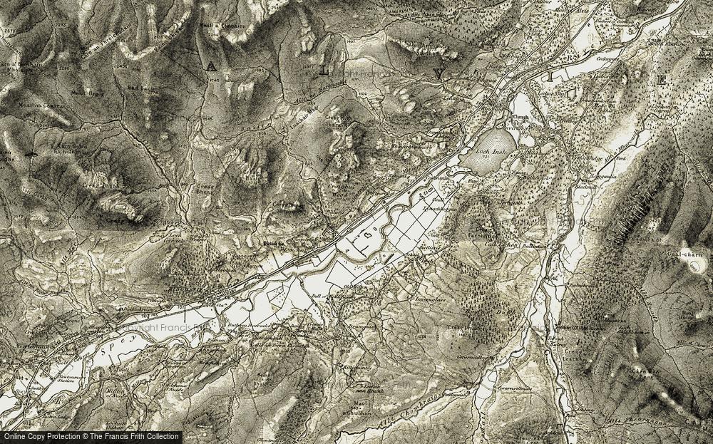 Old Map of Balavil, 1908 in 1908