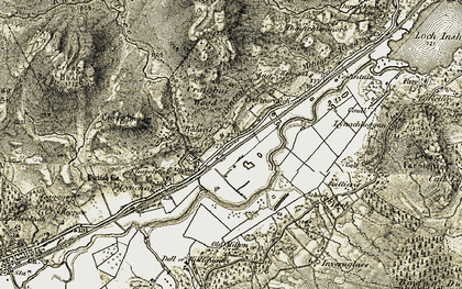 Old map of Balavil in 1908