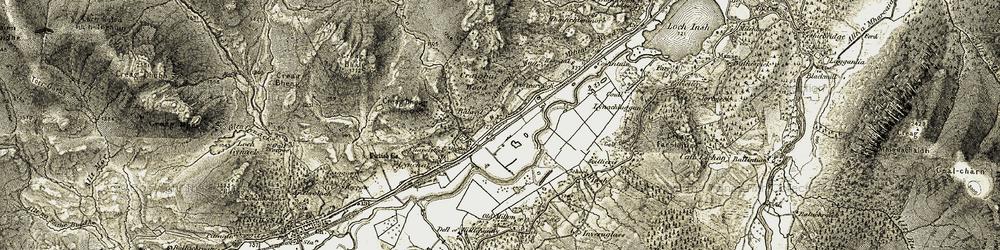 Old map of Allt na Baranachd in 1908
