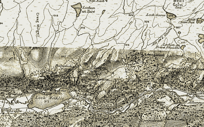 Old map of Balbeg in 1908-1912