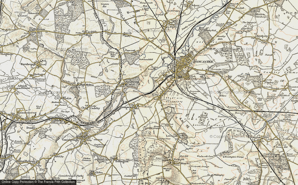 Old Map of Balby, 1903 in 1903