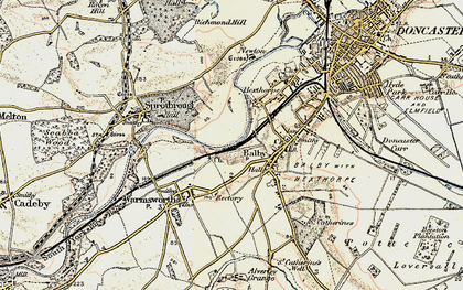Old map of Balby in 1903