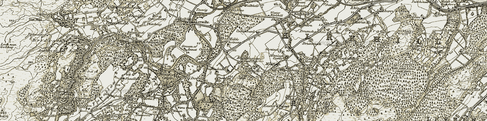 Old map of Aird, The in 1908-1912