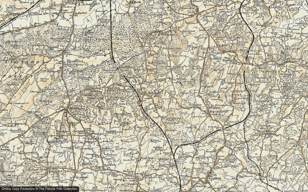 Old Map of Balcombe, 1898 in 1898
