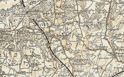 Old map of Balcombe in 1898