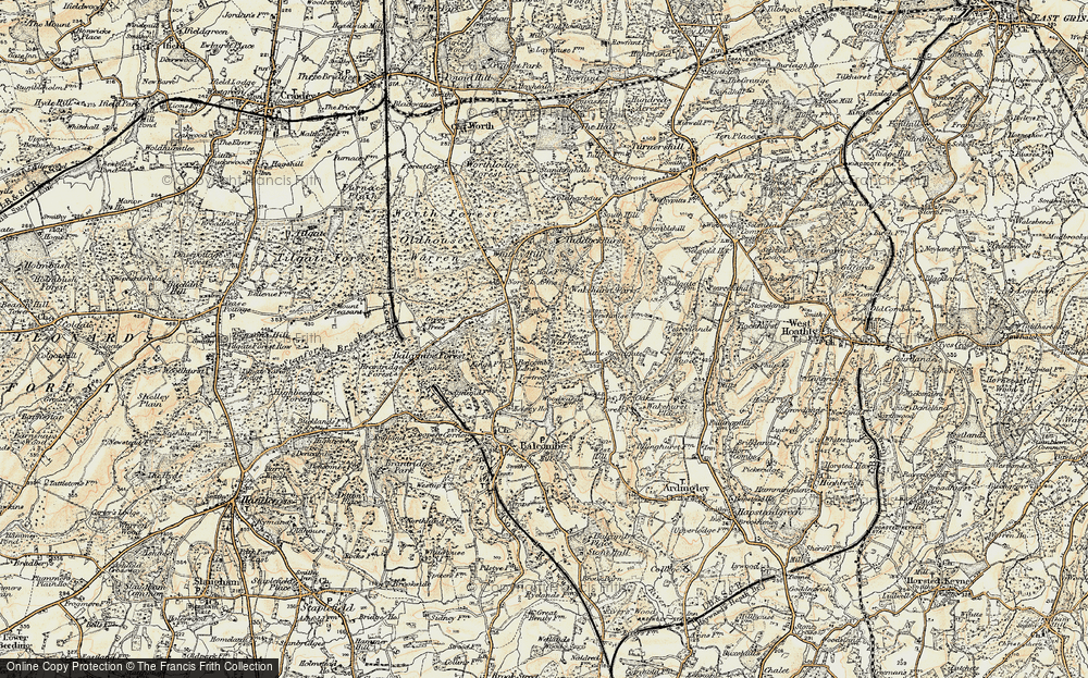 Old Map of Historic Map covering Balcombe Forest in 1898