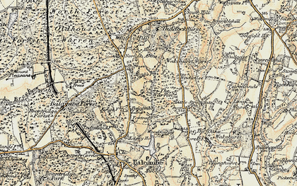 Old map of Balcombe Forest in 1898