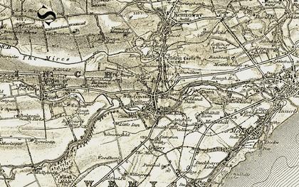 Old map of Balcurvie Ho in 1903-1908
