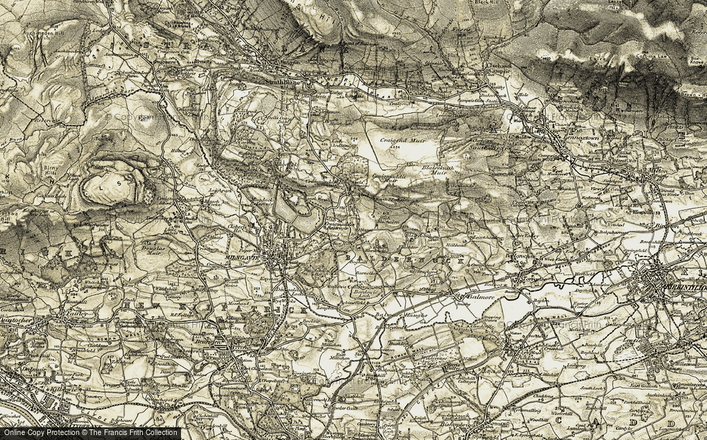 Old Map of Baldernock, 1904-1907 in 1904-1907