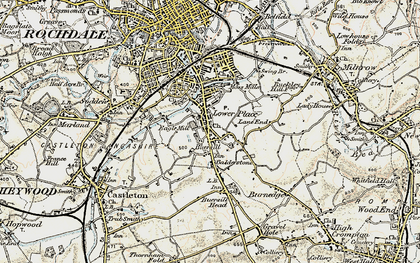 Old map of Balderstone in 1903