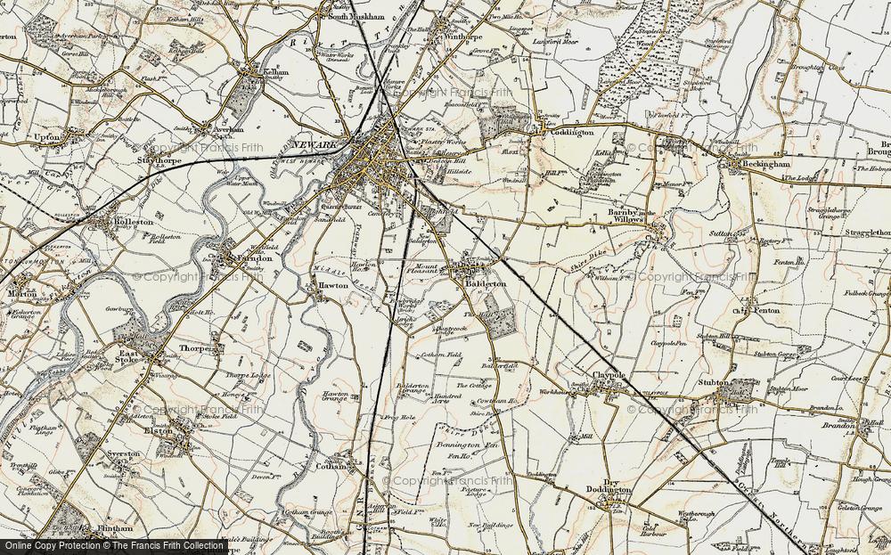 Old Map of Balderton, 1902-1903 in 1902-1903
