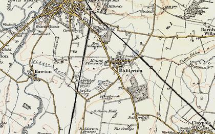 Old map of Balderton in 1902-1903