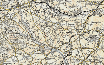 Old map of Baldhu in 1900
