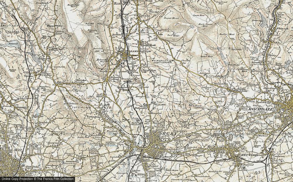 Old Map of Baldingstone, 1903 in 1903