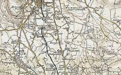 Old map of Baldingstone in 1903