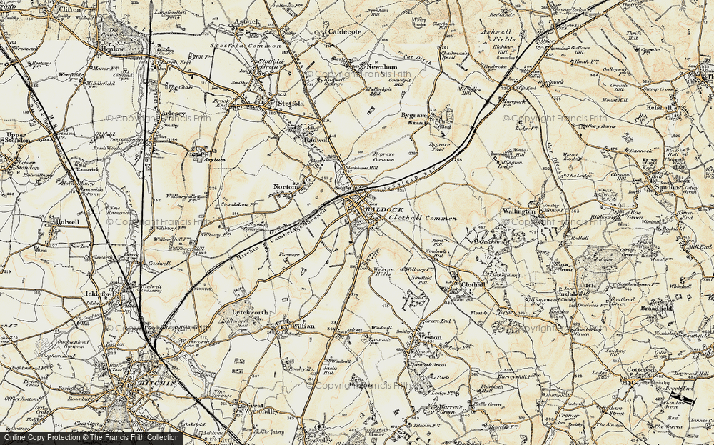 Old Map of Baldock, 1898-1899 in 1898-1899