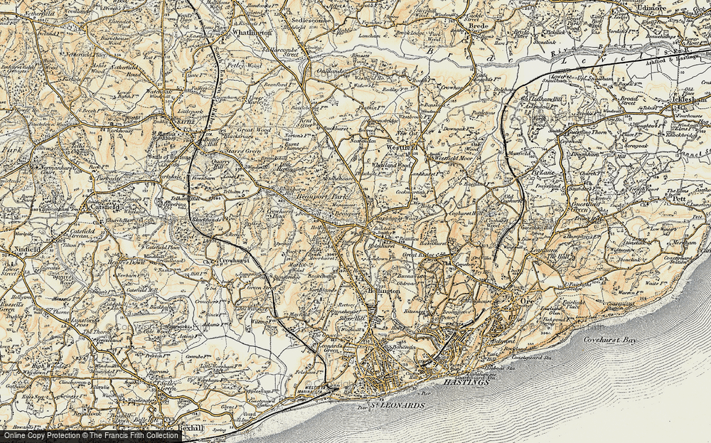 Old Map of Baldslow, 1898 in 1898