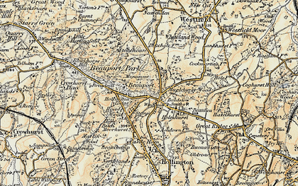 Old map of Baldslow in 1898