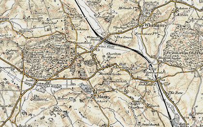 Old map of Baldwin's Gate in 1902