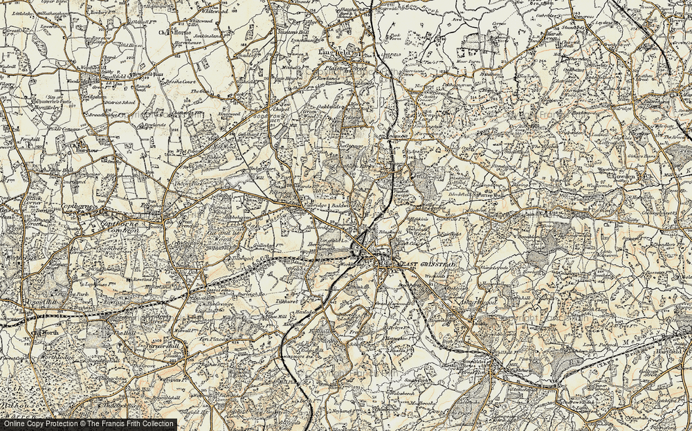 Old Map of Baldwins Hill, 1898-1902 in 1898-1902