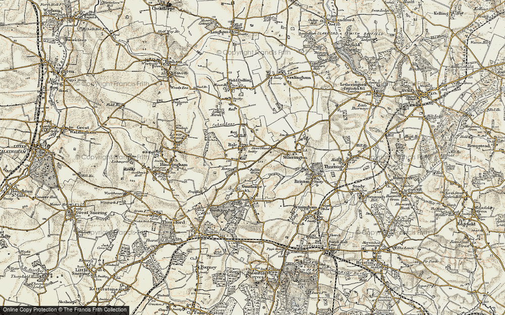 Old Map of Bale, 1901-1902 in 1901-1902