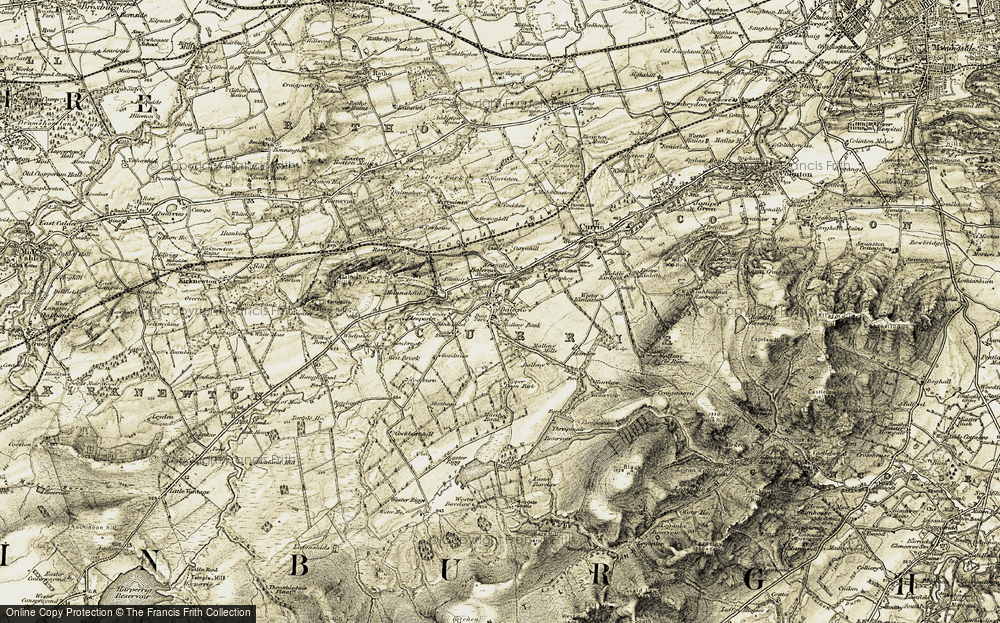 Old Map of Historic Map covering Larch Grove in 1903-1904
