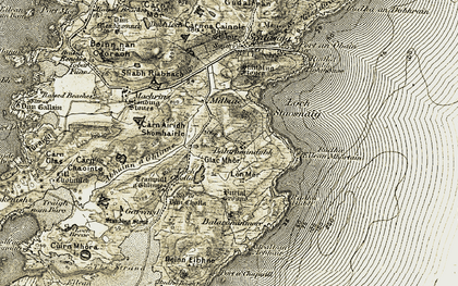 Old map of Balerominmore in 1906-1907