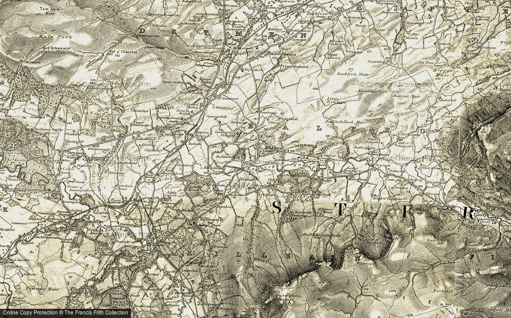 Old Map of Balfron, 1904-1907 in 1904-1907